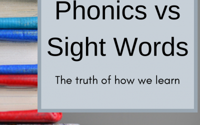 Phonics Vs. Sight Words
